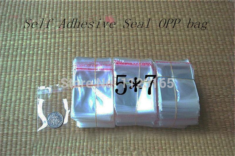 5x7cm, X klar OPP Self Adhesive Seal Plastiktüte - Klebestreifen Wiederverschließbare Poly Taschen kleines Geschenk / Schmuck Verpackung Beutel