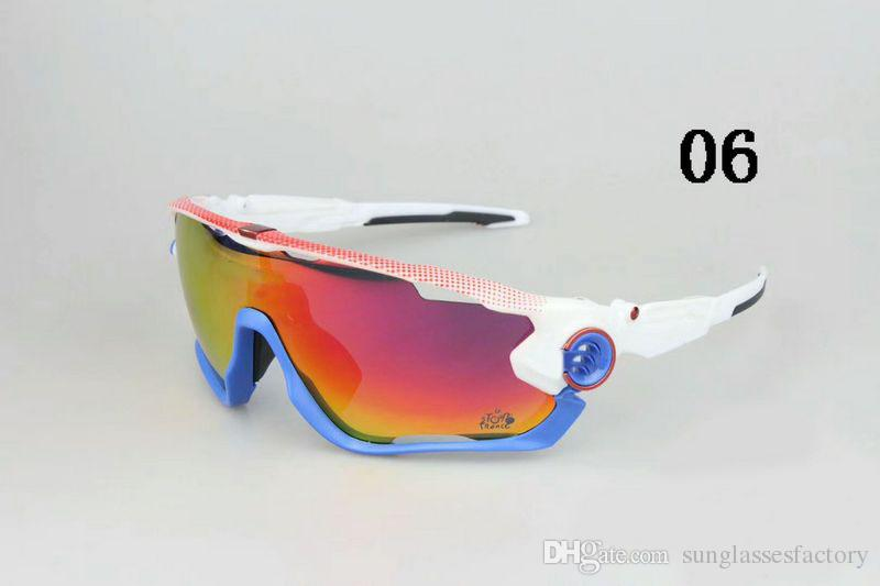 c40af051ae 2017 Polarized Outdoor Eyewear Cycling Sunglasses Racing Sport Glasses  Mountain Bike Goggles Interchangeable 5 Lens Jawbreaker Cycling Eyewear  Sunglasses ...