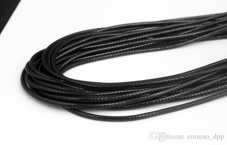 Cire noire en cuir de serpent Collier 45cm 60 cm cordon cordes corde fil Extender chaîne avec mousqueton bricolage composante bijoux de mode en vrac