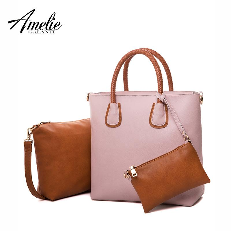 Wholesale- AMELIE GALANTI Fashion Women Shoulder Bags Famous ... dc4999c9716f2