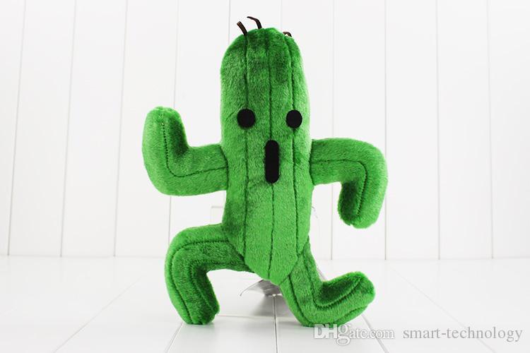 Final Fantasy Cactus Cactuar En Peluche Jouet Vert Plant En Peluche Doux Poupées Avec Étiquette De Noël Cadeau 24 cm Environ