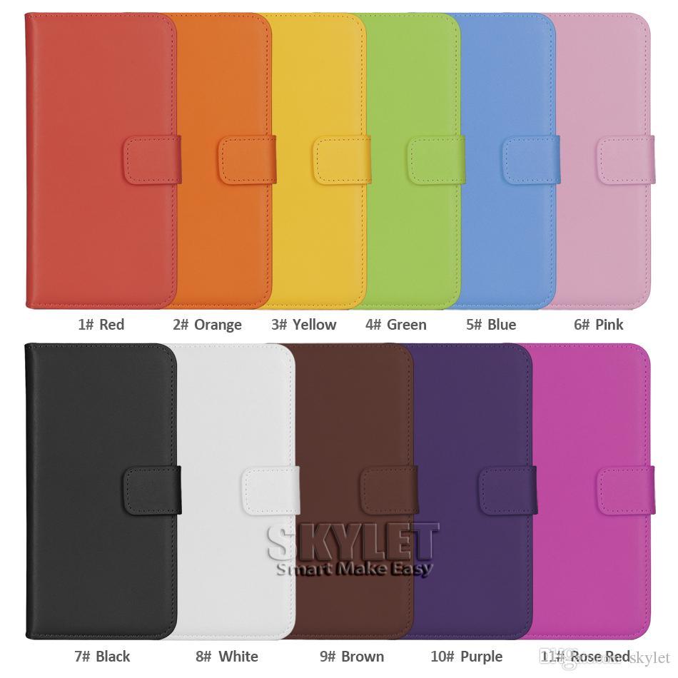 Hakiki Deri Cüzdan Kılıf iphone 11 Pro XS Max XR 7 8 Artı Galaxy S20 S20 Artı S10E S9 Not 9 S8 Artı Opp Torba ile Kapak Kılıfları