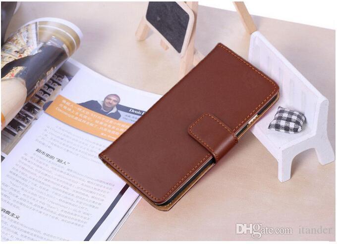 Funda billetera para iphone 5 5s 6 6s PU funda de piel con ranura para tarjeta para Samsung Galaxy S6 S6 edge note3 Estuches Opp
