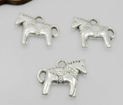pendentif en argent tibétain cheval charmes pour la fabrication de bijoux bracelet 14x12mm