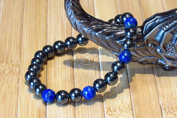SN0132 New Arrivals Hematita Mens Pulseira Tribal lapis lazuli Pulseira Atacado frete grátis