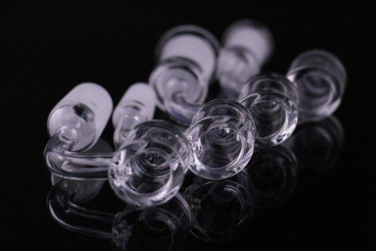 Hookahs 용 Carb 모자와 4mm 두꺼운 석영 벤터 Dab rig 돔없는 네일 10mm 14mm 18mm 남성 여성 100 % 진짜 quartzbanger