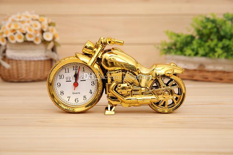 Moto Bureau Horloge Moderne De Mode Quartz Réveil Décoration de La Maison Cadeaux Cool Rétro Deisgn pour Garçons