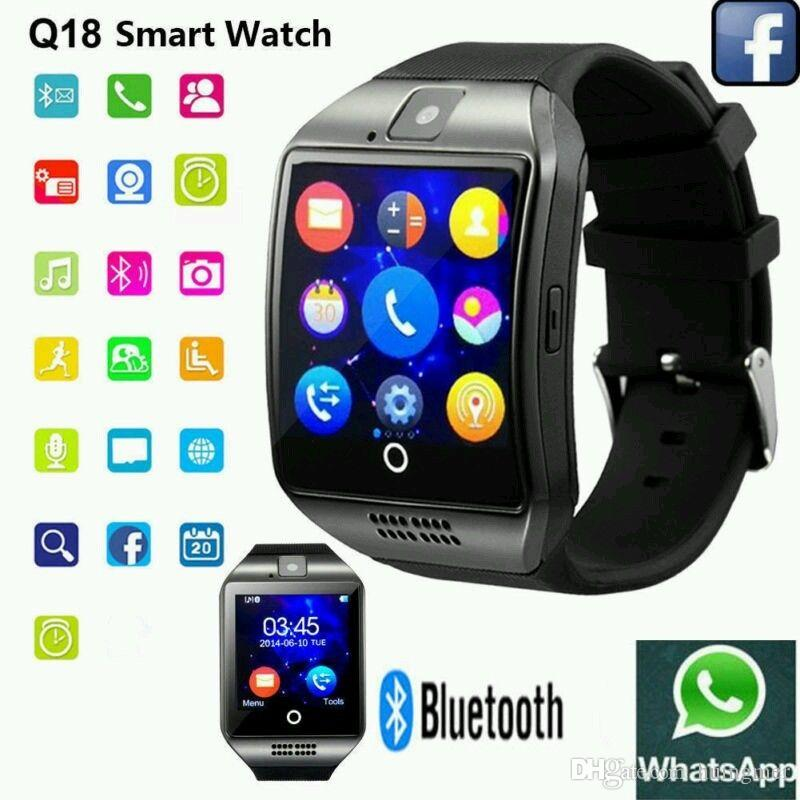 10c6809aa Universal Fashion Q18 Anti Lost Smartwatch Bluetooth Touch Screen Smart  Wrist Watches For Android Phone With Camera TF Card NFC Connection Stylish  Smart ...