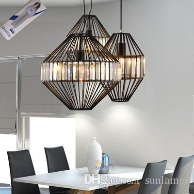 Modern crystal pendant light clear black bar lounge restaurant modern crystal pendant light clear black bar lounge restaurant kitchen lights hanging lamps led lighting decoration home pendant lamp pendant lights over workwithnaturefo