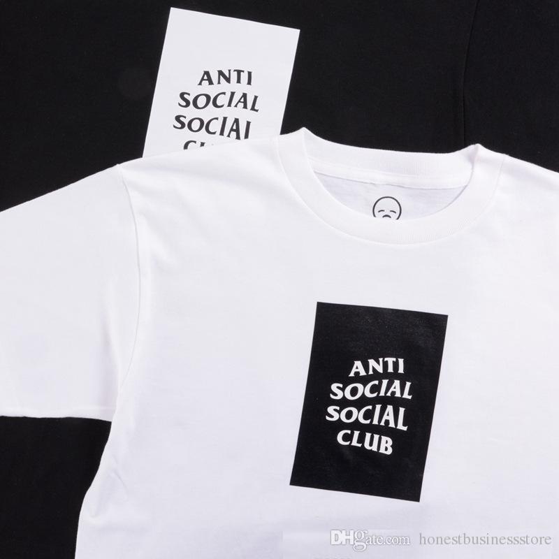 55486c2ef Anti Social Social Club Box Logo Tee Men T Shirt Hip Hop Fashion Gd