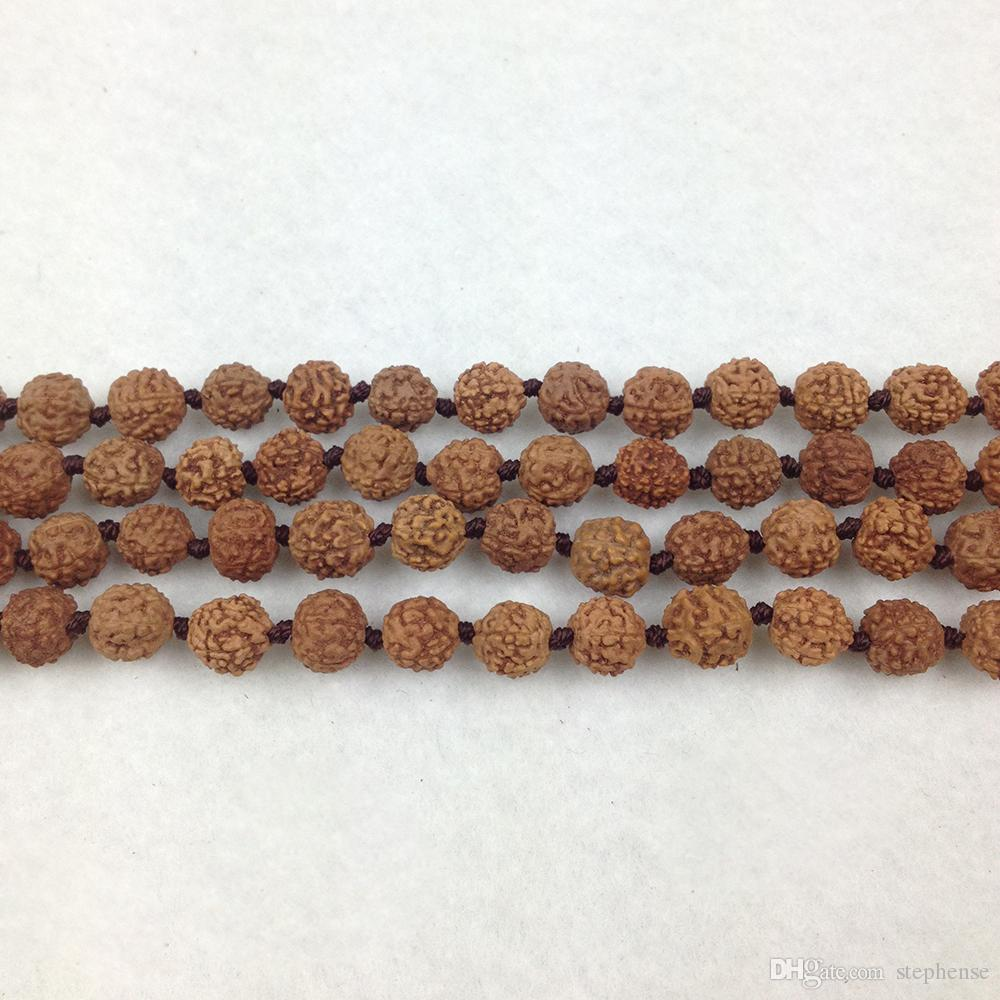 ST0282 Hot Sale Fashion Wholesale Rudraksha Mala Hand Knotted Necklace Fashion Yoga Necklaces Healthy Jewelry For Women