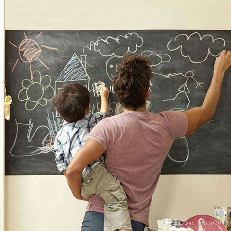 45x200cm Chalk Board Blackboard Stickers Removable Vinyl Draw Decor Mural Decals Art Chalkboard Wall Sticker for Children Kids Rooms