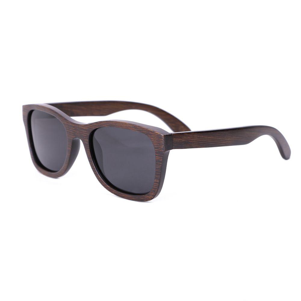 02ac77dd2875 2018 New Fashion Men Sunglasses Custom Wood Bamboo Sunglasses Square ...