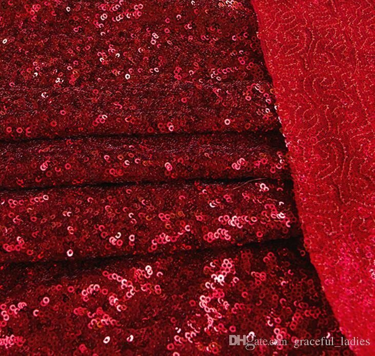 Hot 3mm Sequins Dress Fabric Navy Blue Glitter Sequins