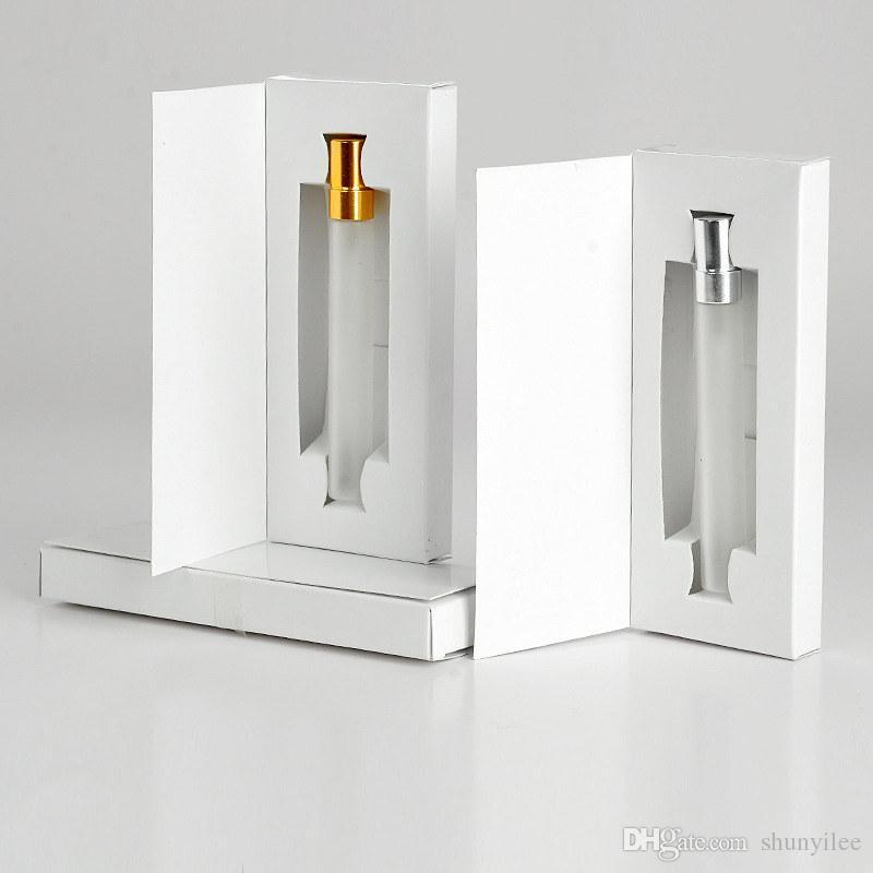 5 ML 10 ML Cam Şişe Parfüm Atomizer Parfüm Sprey Şişe Ambalaj Kutusu ile Kozmetik Örnek Flakon Doldurulabilir Şişeler F20172469