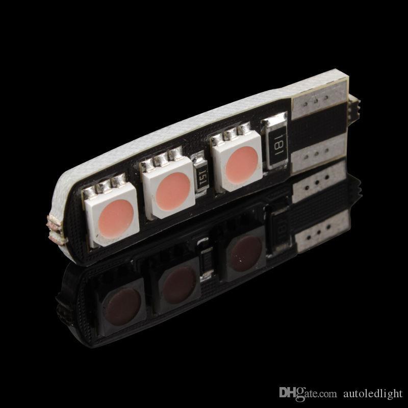 Lighting No Error canbus T10 w5w 191 5050 6 LED SMD White Car Side Wedge Light Lamp Bulbs