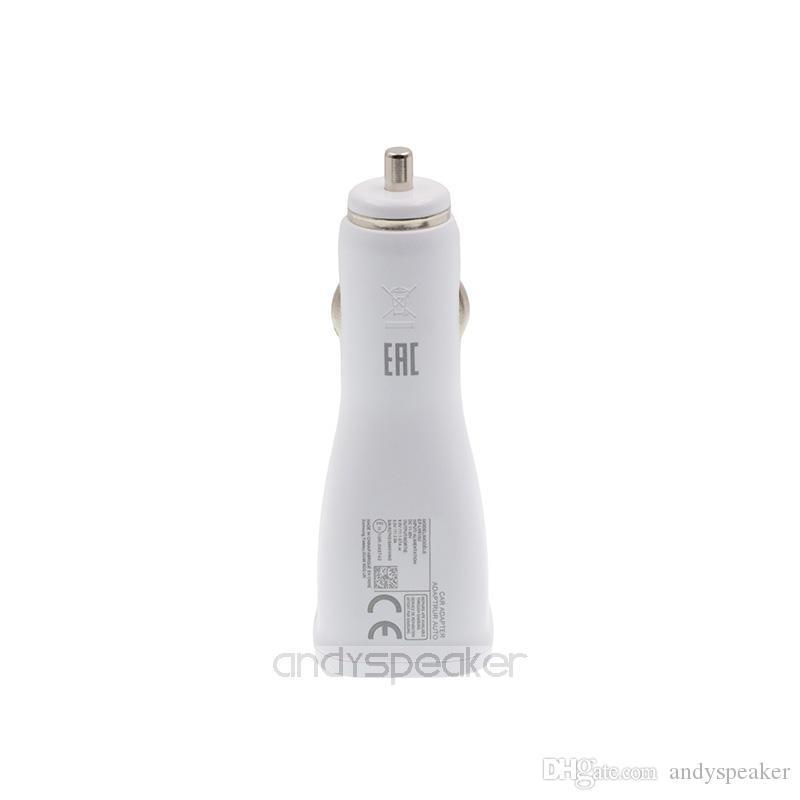 Adattatore adattivo auto veloce caricabatterie cellulari 15W 9V / 1.67A 5V / 2A Bianco bianco /