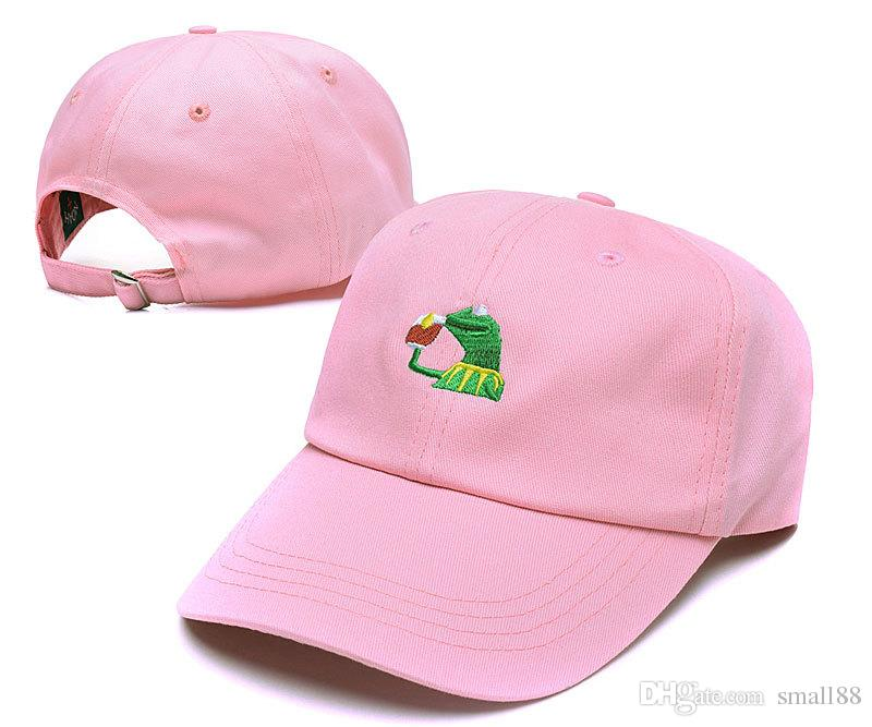 Hot Sale Kermit Tea Hat The Frog Sipping Drinking Tea Baseball Dad ... 474a73d64246