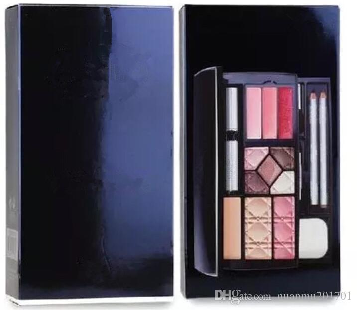 Neue Fanous Travel Exclusive Make-up Palette Puder + Lidschatten + Augenbrauenstift + Mascara + Rouge + Lippe Brutto mit Make-up-Tools kostenlos einkaufen