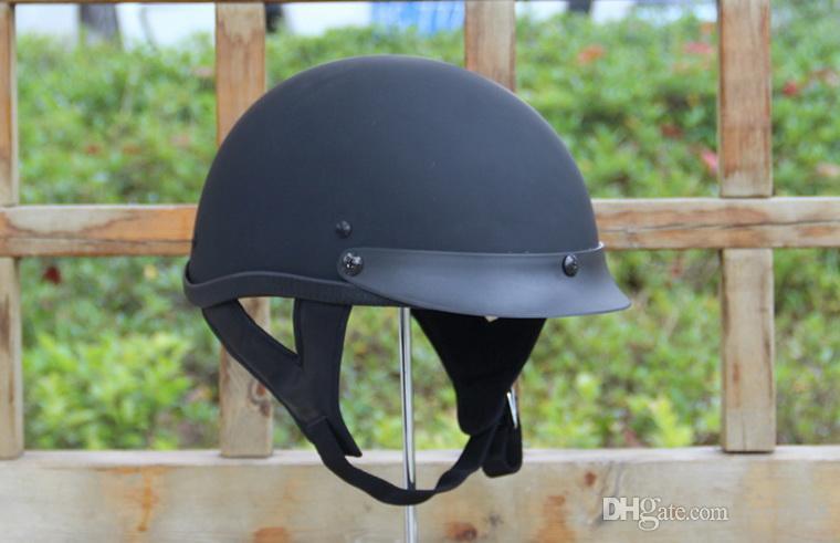 2016 новый летний половина лица точка мотоцикл шлем ABS электрический велосипед ретро Harley модели шлемы безопасности унисекс черный цвет L XL XXL