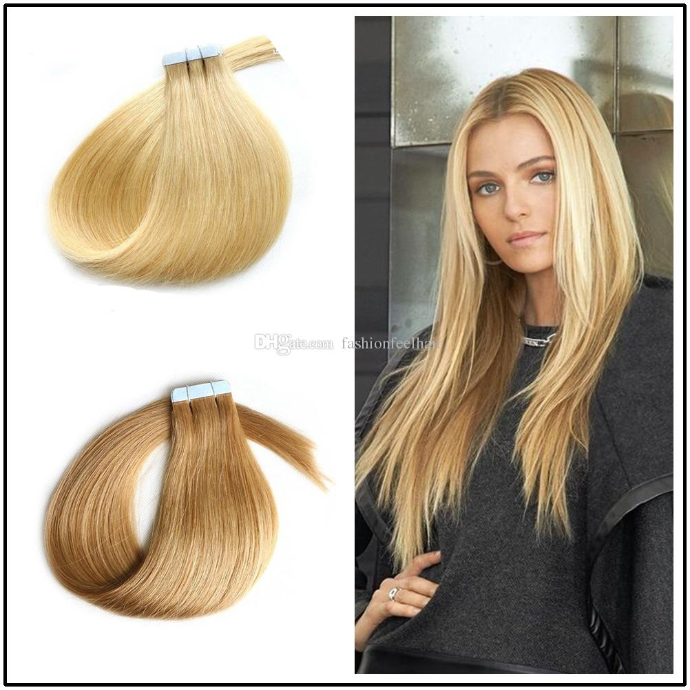 1828inch Invisible Pu Skin Weft Hair Extensions 100 Indian Human
