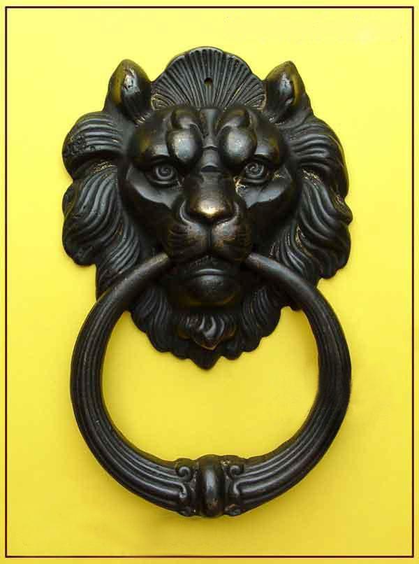 """Wholesale cheap New Chinese Bronze Fierce Lion Head Door Knocker 7"""" High /"""