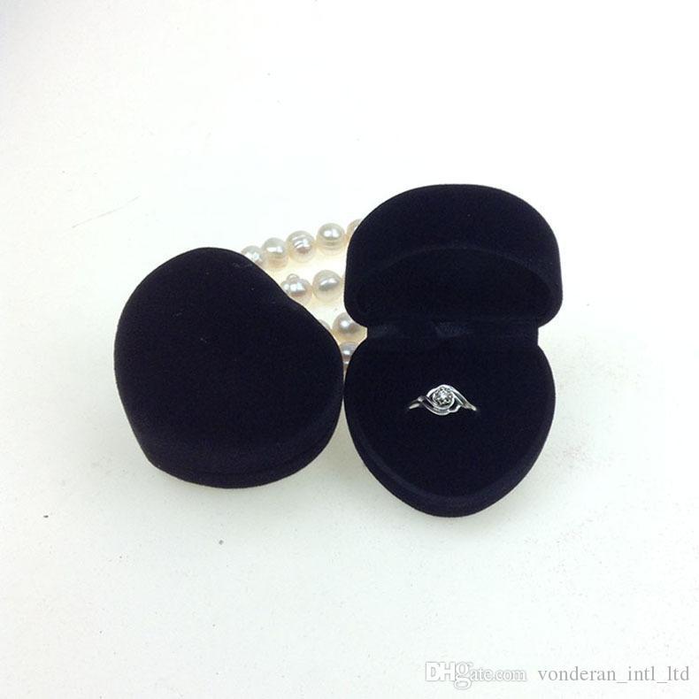 ارتفاع المخملية كانليتي حلقات صناديق مربع مجوهرات مجوهرات صناديق التعبئة حلق الزفاف صناديق الإبداعية صندوق مخصص الجملة الأقراط
