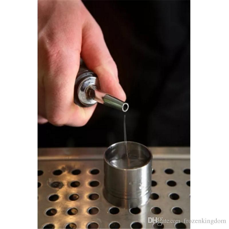En Satış Yeni Paslanmaz Çelik Likör Ruh Pourer Akış Şarap Yağı Şişesi Bacalı Stopper Dökün Barware ücretsiz kargo 2017101601