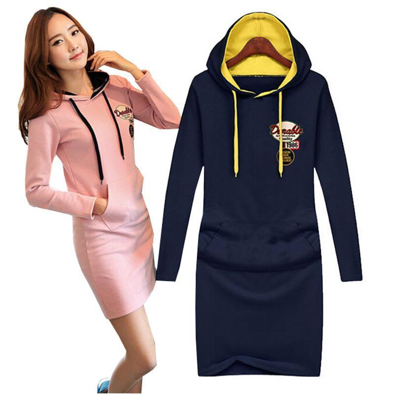 Nice Fall Winter Cheap Plus Size Dresses Clothing Long Sleeved