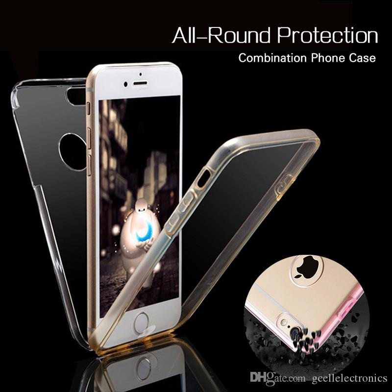 360 Full Clear PC+TPU Front Back Cell Phone Cases For Iphone 11 Pro Max Samsung Galaxy Note 10 S10 Plus Huawei P30 Covers