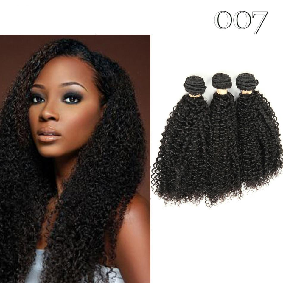 007 Products Kinky Curly Human Hair Extensions 3 Bundle Deals
