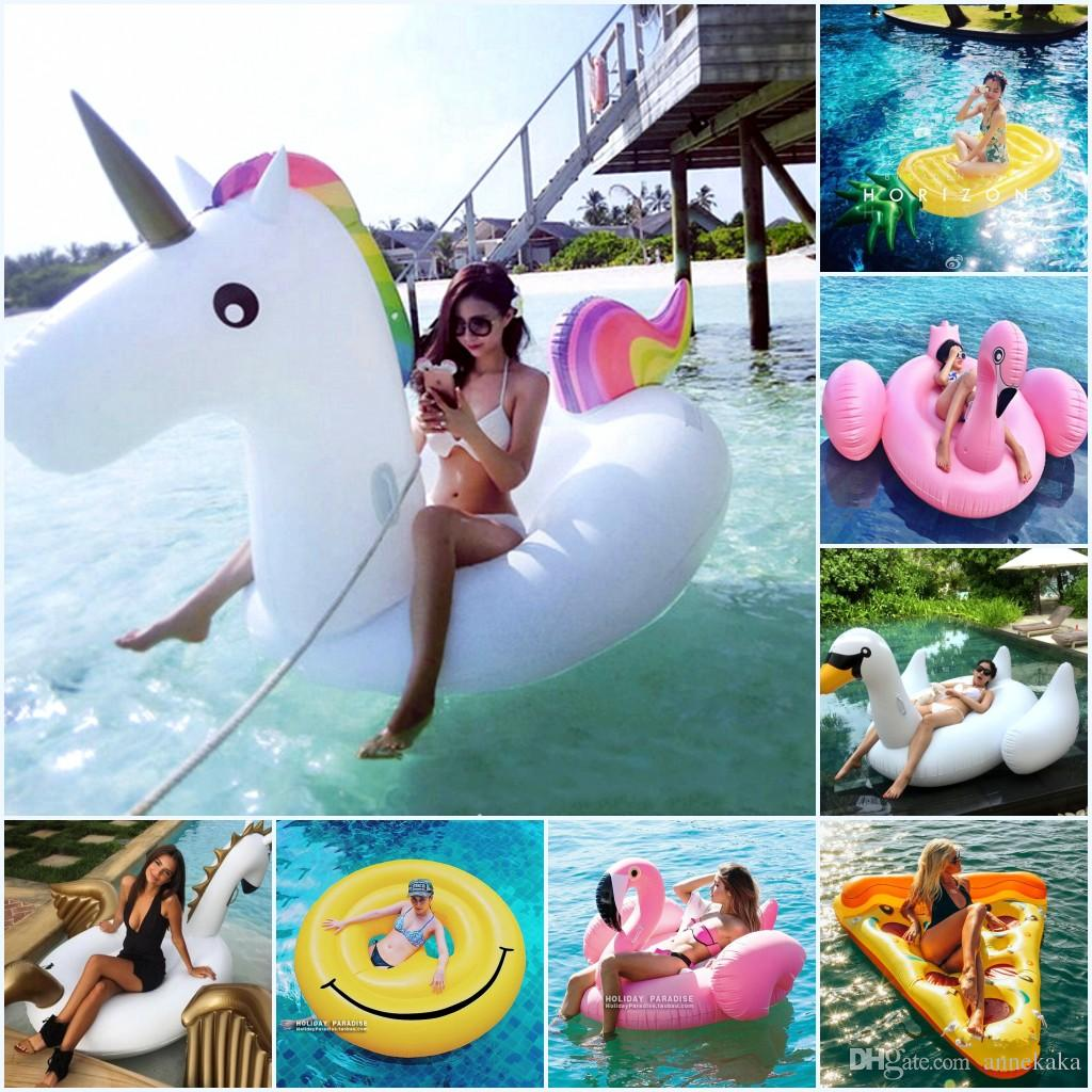 Amazing 2018 Pool Party Toys,Swim Ring,Unicorn Giant Inflatable Pool Toys, Beach Pool  Swim Ring Inflatable Floating Water Toy Leisure Pool From Annekaka, ...
