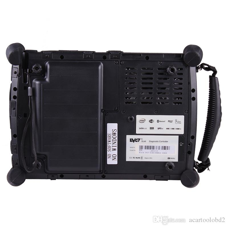 Automotive Diagnostic Controlador EVG7 DL46 / HDD500GB / DDR4GB Tablet PC para garagem profissional e serviços de reparo do carro do mecânico