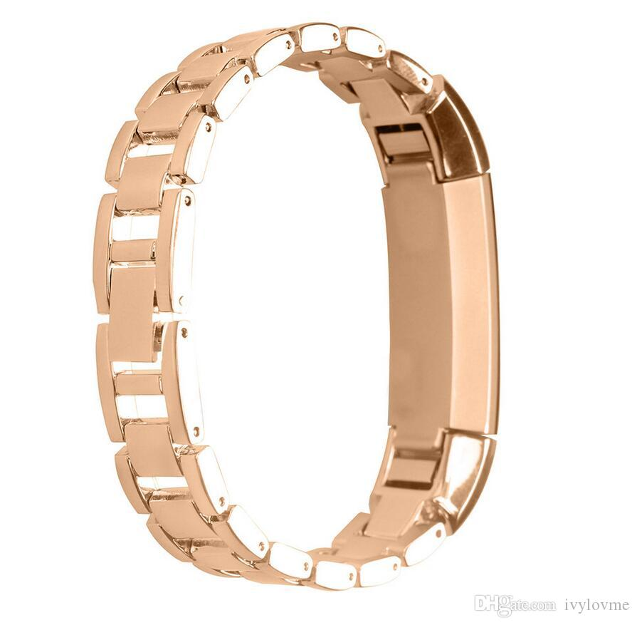 Neue Ankunft 4 Farben Metall Edelstahl Uhrenarmband Ersatzband Für Fitbit Alta Tracker Armband Hohe Qualität