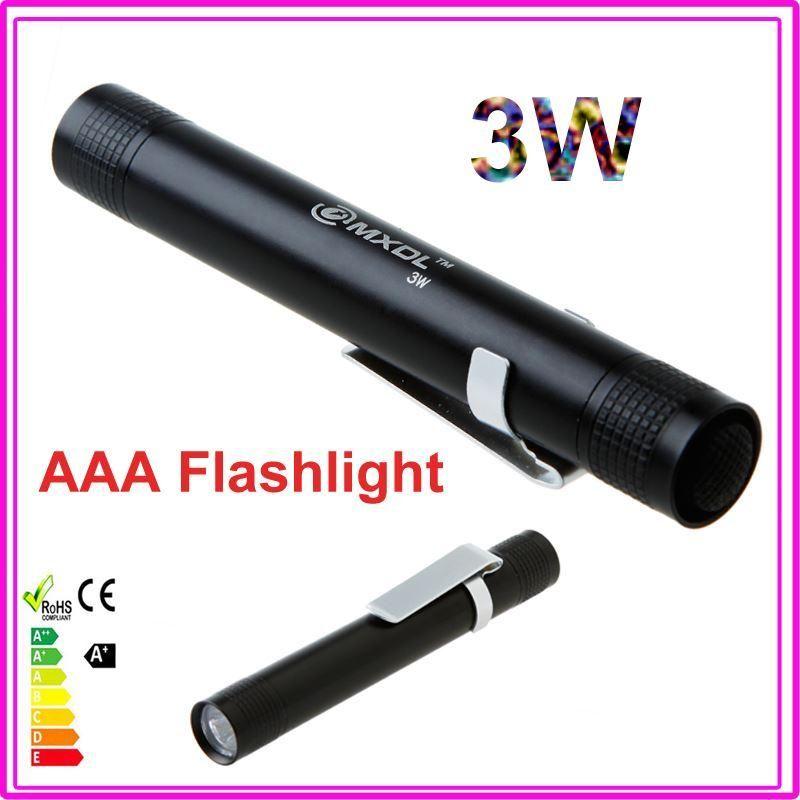 New Oem Mini 3w Flashlight Torch Cree Led Portable 300lm