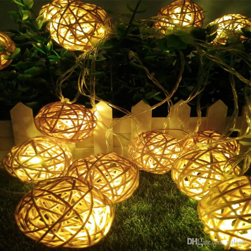best selling led christmas tree lights 5m 20leds led ball string lamps wedding garden pendant garland timbo lamp 110v220v micro string lights paper string - How To String Lights On A Christmas Tree