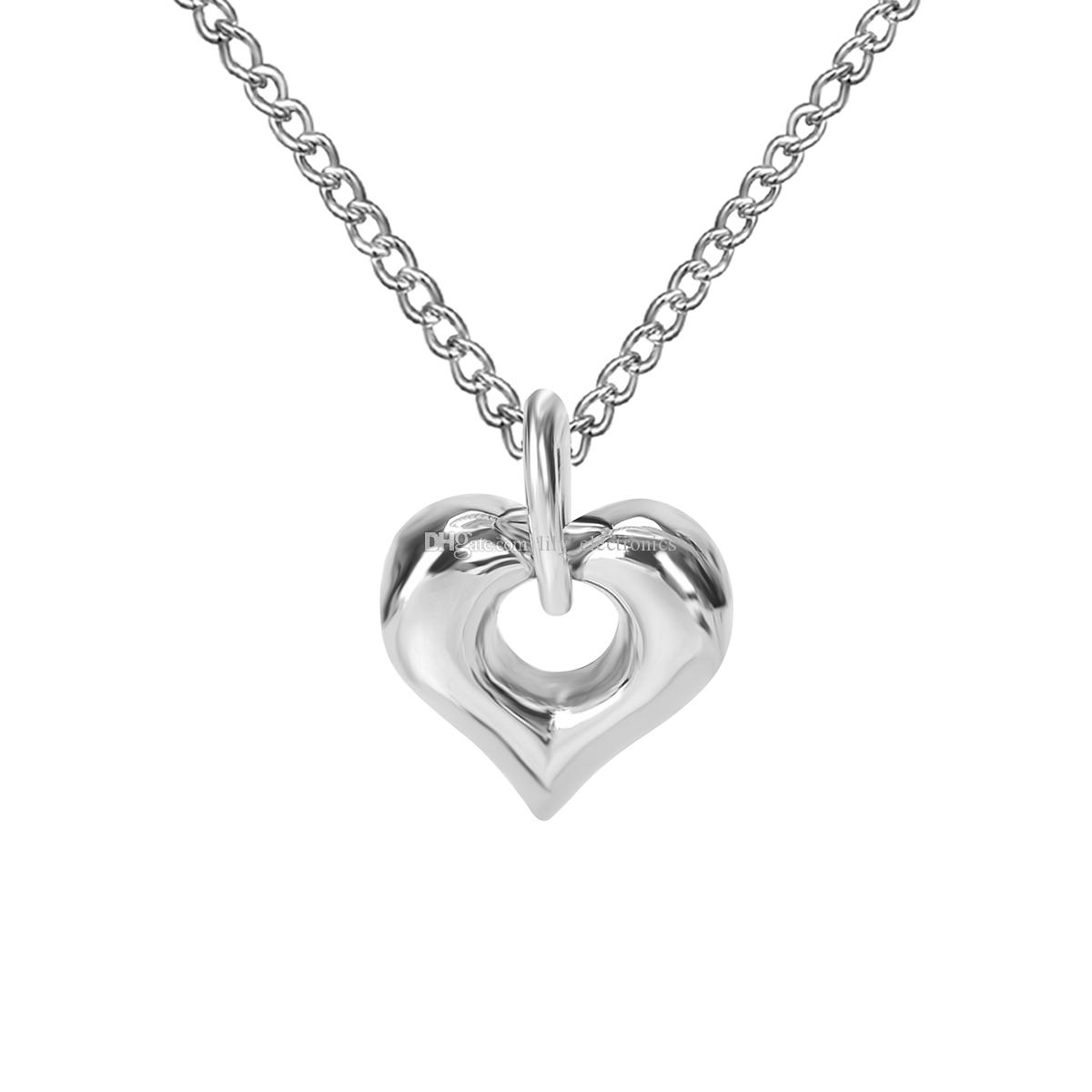 Cremation Jewelry Dolphins Kiss Heart Urn Ashes Necklace Memorial Keepsake Locket Pendant Stainless Steel Funeral Necklace