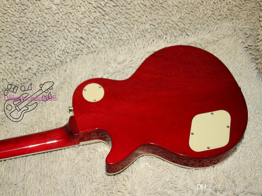 Chinese gitaar nieuwste honing burst solide elektrische gitaar mahonie gratis verzending A43