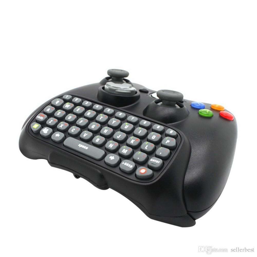 Xbox 360 Xbox360 컨트롤러를위한 검은 무선 메신저 Chatpad 키보드 키패드 텍스트 패드 도매 시간