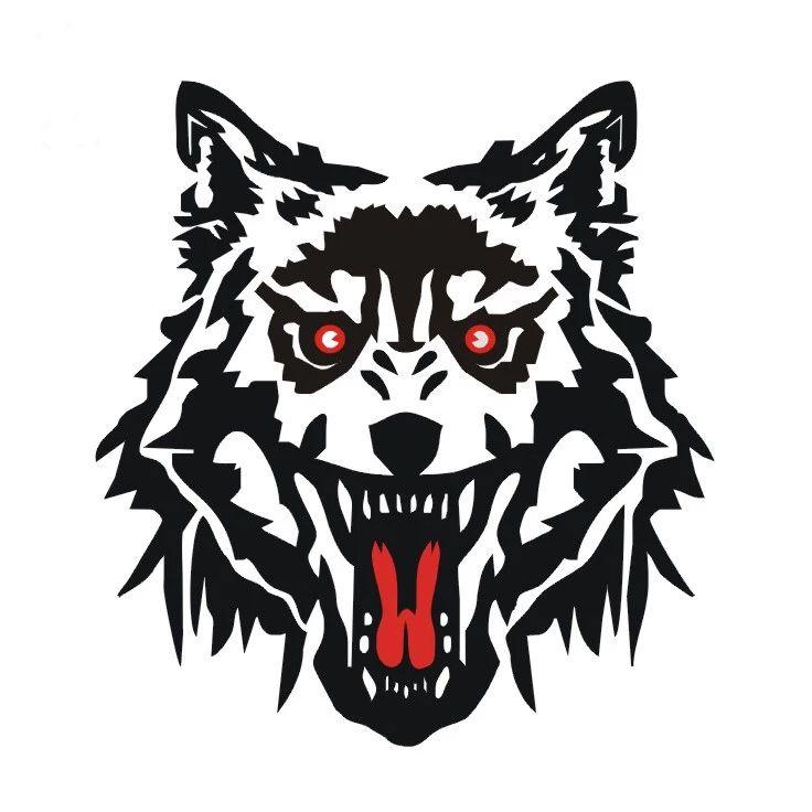 Großhandel Coole Auto Dekoration Wolf Kopf Stil 3d Aufkleber Für Motorrad Auto Rückspiegel Tankdeckel Tür Kopf Schwanz Ganzen Körper Aufkleber