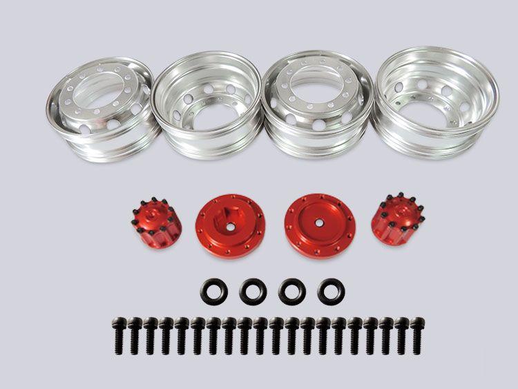 1/14 rc car tamiya toys JD-61 1/14 Model Truck V2 Version Rear Wheel