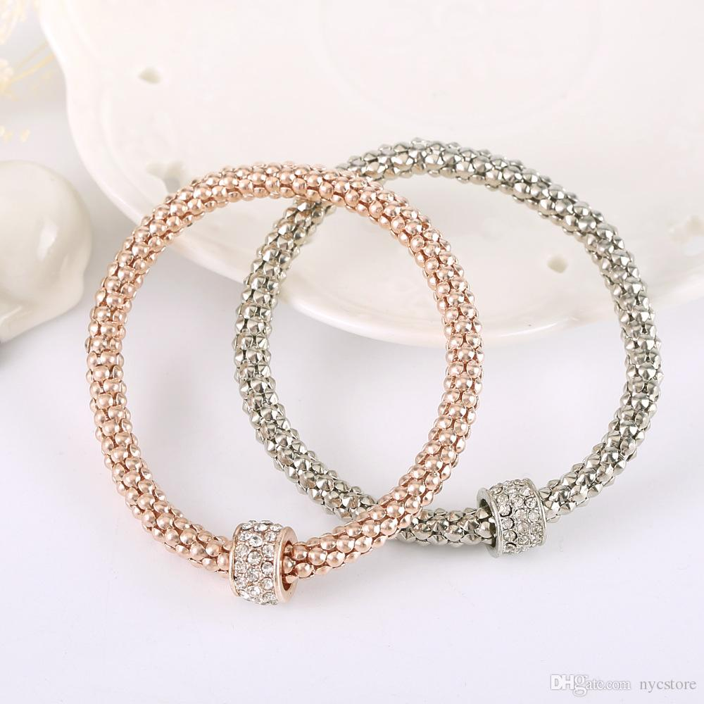 Pandora Jewelry For Sale: Wholesale 18k Rose Gold Bracelet For Pandora Charm Jewelry