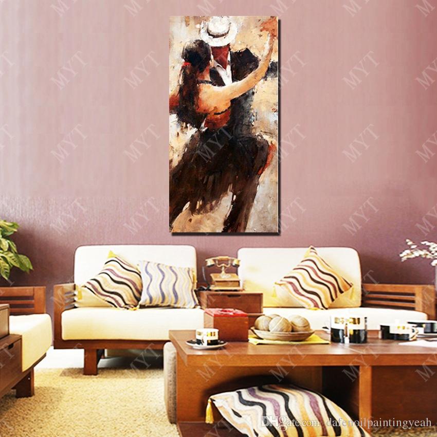 라틴어 춤 가정 장식 벽 예술 회화 손에 의하여 하는 벽에 그림 짜맞춰지는 화포에 추상적인 칼 유화