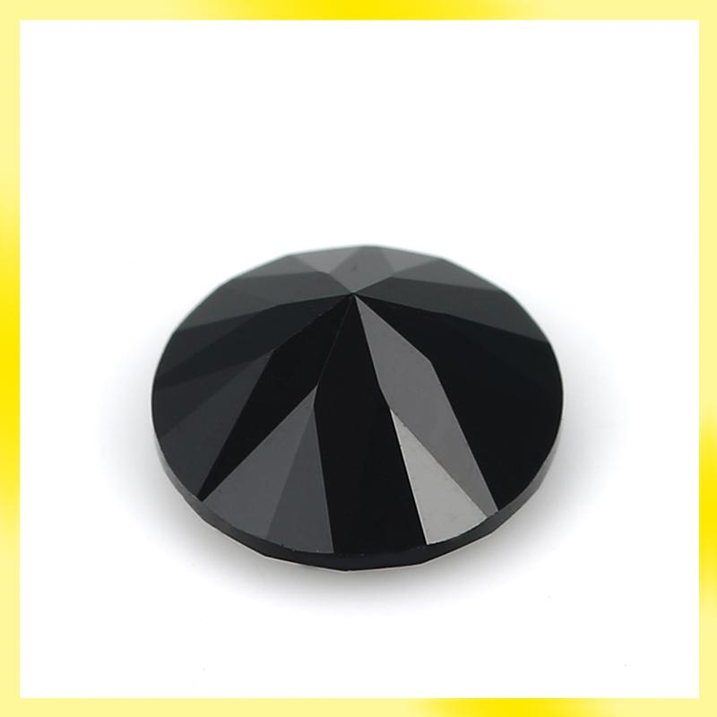 Round shape black 1mm to 3mm cubic zirconia loose gems with factory price and free shipment for