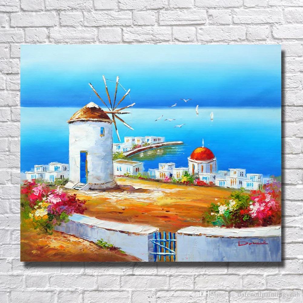 Compre Pintura Al Óleo China Paisaje Del Mar Wall Pictures For ...