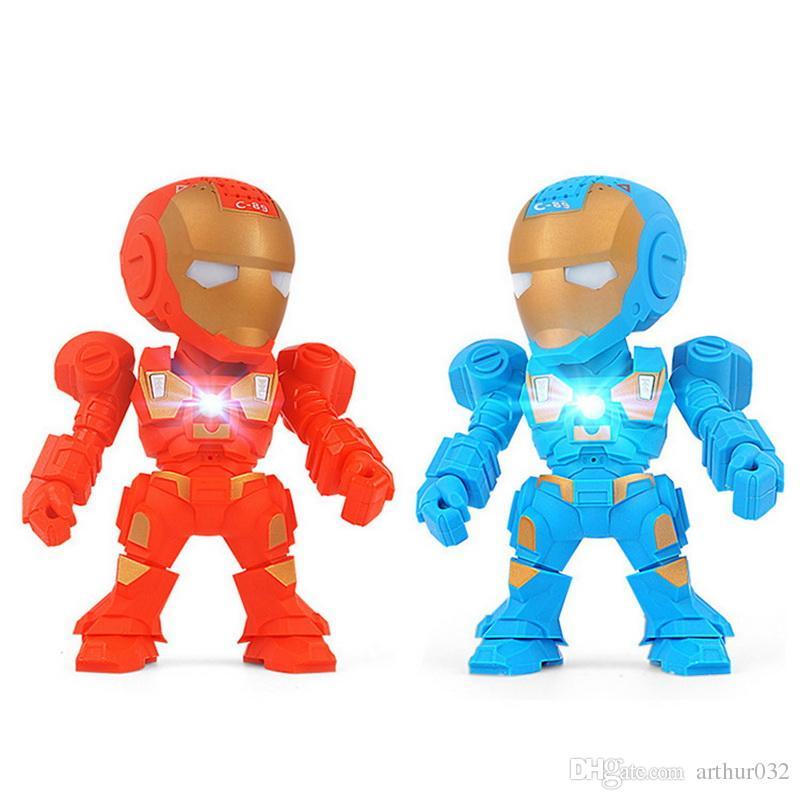 bd30b4e2bd65b Compre C 89 Iron Man Altavoz Bluetooth Con Luz De Flash LED Brazo Deformado  Figura Robot Portátil Mini Subwoofers Inalámbricos TF FM USB Música  Reproductor ...