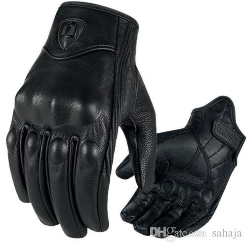 Motorcycle Riding Racing Bike Protective Armor Short Leather Gloves M L Xl Wm064f2 Womens Fingerless From