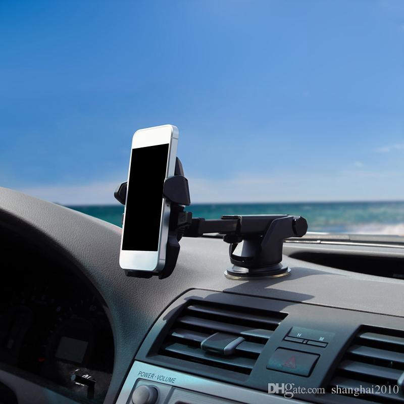 Universal Mobile Car Phone Holder 360 gradi Finestra regolabile del parabrezza supporto del cruscotto del basamento titolari tutto il cellulare GPS