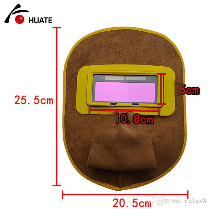 Maschera di saldatura automatica con oscuramento marca HUATE, lente solare, schermo protettivo saldatore, forniture di assicurazione il lavoro di saldatura, schermo protettivo