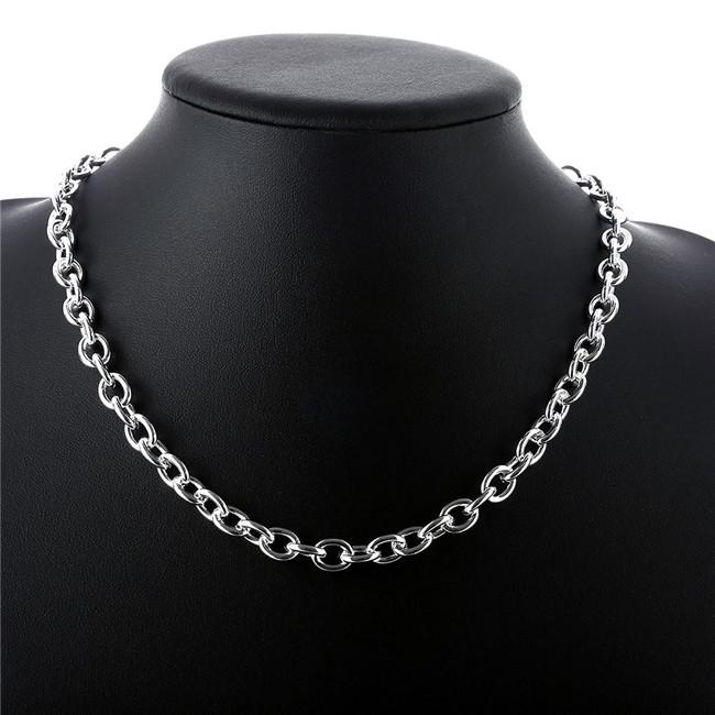 Wholesale TO male models necklace without words sterling silver necklace STSN101,fashion 925 silver Chains necklace factory direct sale